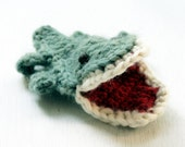 Pattern Crochet Finger puppet - Crocodile