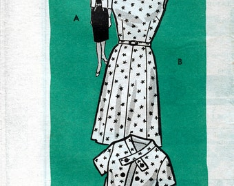 Hoard's Dairyman Pattern Service 9140 Vintage 50s Misses' Dress and Jacket Mail Order Sewing Pattern - Uncut - Size 14.5 - Bust 35