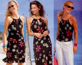 Butterick 6636 Misses'/Misses' Petite Top, Dress, Skirt and Pants Sewing Pattern - Uncut - Size 6, 8, 10 - Bust 30.5, 31.5, 32.5