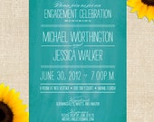 Watermark Engagement Party - Printed Invitations or Printable Files