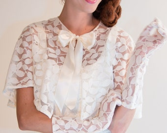 Eve Cotton Lace Gloves