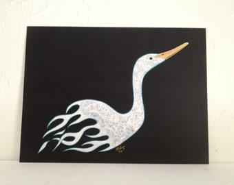 Flames Duck Original Painting