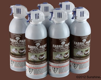 Simply Spray Upholstery Fabric Spray Paint - Dries Soft, Permanent - SADDLE BROWN - 6 PACK