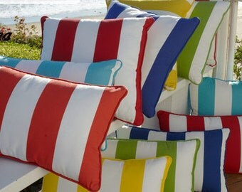 1 Pillow Covers Cushion 20x20 in cabana stripe, canopy, awning  or select your size, and color
