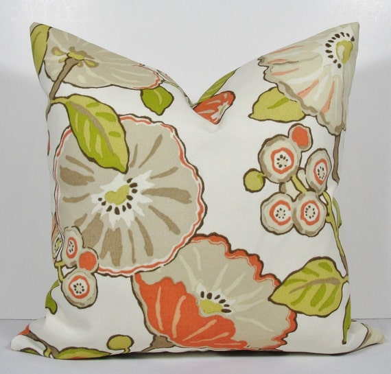 Modern Floral Pillows : Gorgeous Modern Floral Pillow Decorative Pillow Cover