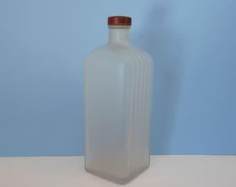 Vintage Satin Glass Bottle