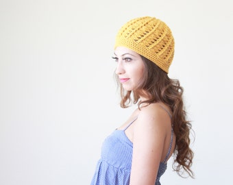 Mustard beanie cap, Mustard crochet cap for women, Mustard beanie hat, Yellow Beanie women, Yellow crochet hat, Yellow hat women, cap
