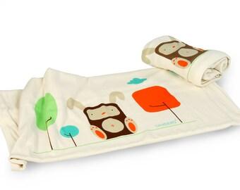 Organic Baby Blanket / Baby Receiving blanket / Stroller blanket by Mezoome Designs