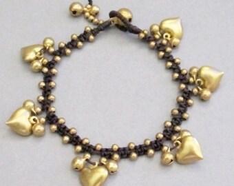 Cascade Bracelet with Love Charm Pendant