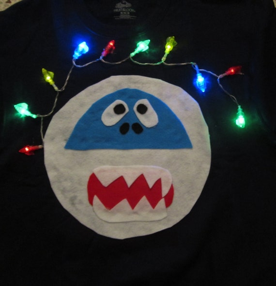 Items similar to light up abominable snowman ugly for Abominable snowman christmas light decoration