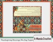 SALE 50% OFF Thanksgiving Blessings Mix Printable Bag Topper