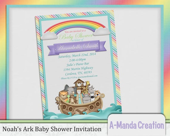 manda creation noah 39 s ark baby shower birthday party printables