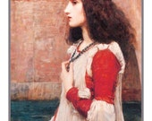 Pre-Raphaelite Artist John William Waterhouse's Shakespeare's Juliet Counted Cross Stitch Chart