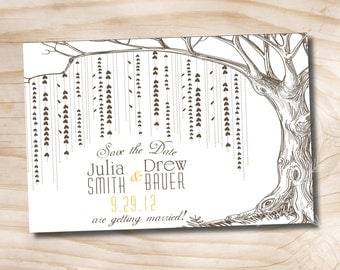 Willow Tree Save the Date  Postcard  - You Print