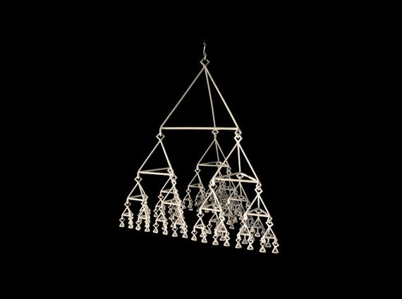 Ternary Tree Mobile (Level 5) - 3D Printed Art Sculpture