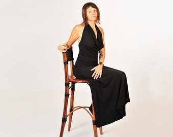 Maxi Skirt - Black - Organic Clothing - Eco Friendly - Full Length Skirt - Available in Several Colors