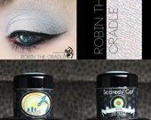 Pale Blue Eye Shadow - Blue Gold Duochrome - Loose Mineral Pigment Eyeshadow - Scaredy Cat - ROBIN THE CRADLE - 5 mL Sifter