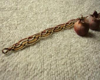 African queen macrame bracelet  black and brown earthy jewel