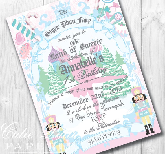 Sugar Plum Fairy Party Invitations