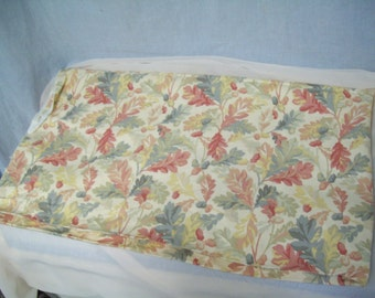 Vintage Heavy Upholstery Fabric, Pastel Leaves