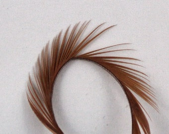 Feathers dark tan Goose Biots 4 dyed dark tan GBD-39 craft feathers fly tying feathers