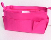 Medium Bag organizer - Purse organizer insert in Hot Pink fabric