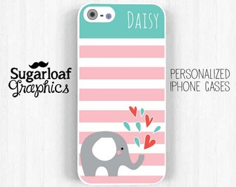 Elephant iPhone 6 plus Case, Personalized First Name iPhone 7 6 5s 5c 5 4s Case Samsung Galaxy s5 s4 s3, Note 3 Case Am36