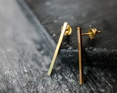 Tall Bar Earrings, Everyday Post Earrings / Handmade in Austin, TX