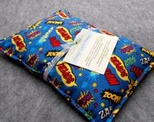 Corn Bag Microwave Heating Pad  -- Superhero, pillow 10x14