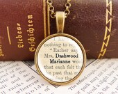 Marianne Dashwood - Small Literature Necklace
