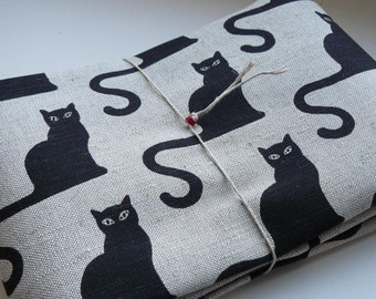 Fabric linen- cotton with cats