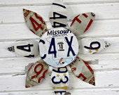 License Plate Flower - Missouri