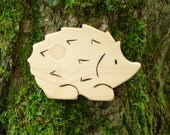 Hedgehog, Wooden Toy Animal, Maple - all natural wooden toy