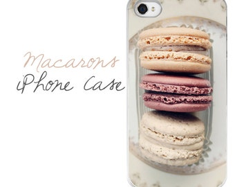 Macarons iPhone Case, Macarons iPhone Cover, Dessert iPhone Case, Macarons iPhone 7 Plus Case, Dessert iPhone 7 Case, Macaron Phone Case