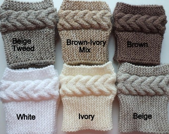 Hand  Knit  Boot Cuffs, Boot Toppers, Leg Warmers 8 Colors Avelable