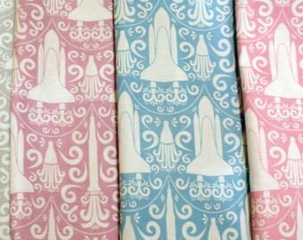 Rocket Science Damask Cotton Fabric Fat Quarter