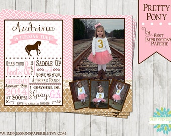 Pretty Pony - A Customizable Birthday Party Invitation