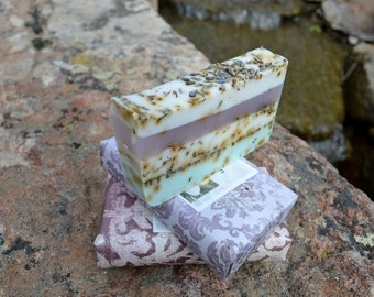 Soap All Natural Soap Artisan Handmade Vegan HEALING Lavender Mint Chamomile Soap Olive Oil Coconut Oil All Natural Soap