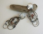 Silver Tangle Earrings