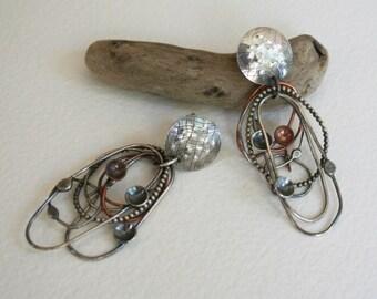 Silver Tangle Earrings