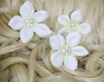 Bridal hair pins, Wedding hair accessory, Stephanotis hair pins, Bridal hair flowers, Wedding hair flowers, Bridal hair accessory, hair pin