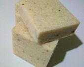 Southern Belle Olive Oil Soap Sea Salt Scrub Bar with yogurt - Organic Ingredients