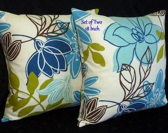 Decorative Throw Pillows -  Magnolia Home Fashions Monaco Breeze - Two 18 Inch