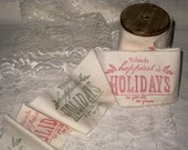 Muslin Ribbon Christmas Holiday Vintage Inspired Hand Designed Muslin Ribbon ECS