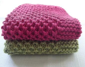 2 Pcs Cotton Knitting Dishcloths ... Knitting  Wash cloth.. Knitting  Pattern ... Knitting bath and beauty...Crochet Kitchen Cleaning