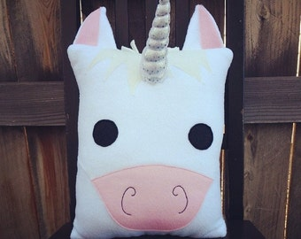 Unicorn pillow, cushion, plush