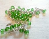 Green Glass Crystal Bead Bracelet