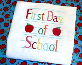First Day Of School Shirt - First Day of School Dress, Back To School Shirt, Back To School, 1st Day of School, Back To School Outfit