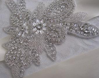 Bridal Beaded Crystal Wedding Sash/Belt