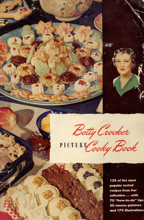 Vintage 1940s Cookbook Betty Crocker S Picture By